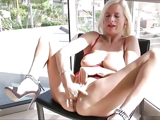 sex toy blonde Horny Mom Fucks Herself