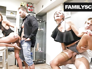 blowjob amateur Horny Family Visits Swingers Club