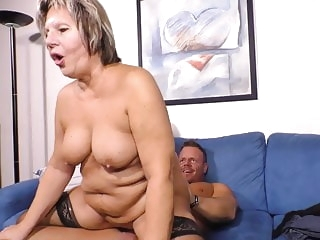 blowjob amateur Granny and moms help young sons
