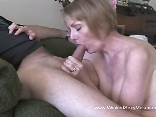 blowjob amateur A granny is hornier than ever and wants to taste that stiff young willy